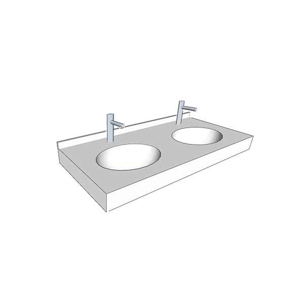 Vasque plan cheap cool meuble salle de bain leroy merlin for Vasque sur mesure